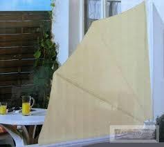 seitenmarkise balkon florabest balkon sichtschutzfächer seitenmarkise sichtschutz beige
