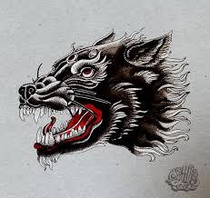 neo traditional wolf by mrsigill on deviantart