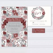 invitation boxes cheap floral pattern wedding invitations marcala wine wedding invites