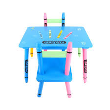 Childs Wooden Desk Childrens Wooden Crayon Table And Chairs Set Kids Room Furniture