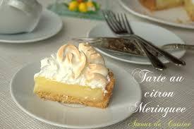 cuisine tarte au citron tarte au citron meringuée amour de cuisine