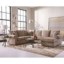 big cream chenille herringbone sofa sectional chaise living room