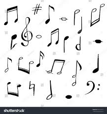 music notes signs set hand drawn stock vector 551313157 shutterstock