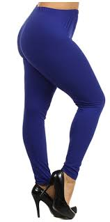solid royal blue leggings plus sparckily apparel