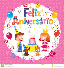 feliz aniversario brazilian portuguese happy birthday card stock