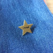 Star Meme - i tried gold star meme gold hard enamel pin choopl designs
