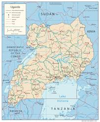 World Map With Cities Political Map Of Uganda With Cities Uganda Political Map With