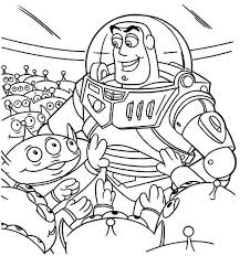 buzz bunch green men toy story colouring