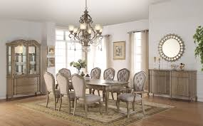 Acme Dining Room Sets by Chelmsford 9pc Dining Set 66050