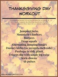 thanksgiving day workout runs for food