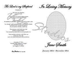 templates for funeral programs easy printable template funeral program