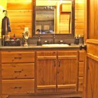 Bathroom Decoration Using Solid Cherry Wood Bathroom Vanity Linen - Solid wood bathroom vanity top