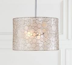 Capiz Light Pendant Marina Drum Pendant Pottery Barn