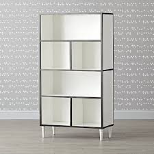 Iron And Wood Bookcase Tall Metal And Wood Bookcase The Land Of Nod