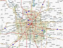 kansas city metro map map of kansas city mo