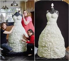 behold the wedding dress you can eat after wearing down the aisle