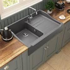 vasque cuisine poser évier à poser céramique blanc gabin 1 bac 1 égouttoir future
