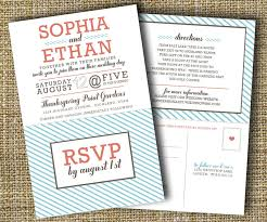 wedding invitations rsvp modern wedding invitation with perforated rsvp card lovely