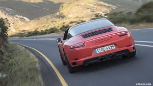 porsche targa 2018 2018 porsche 911 targa 4 gts color lava orange rear hd