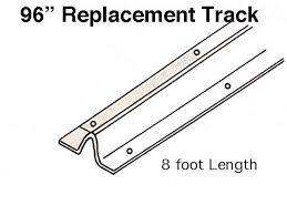 Patio Door Repairs Door Replacement Track 96 Inch Stainless Steel