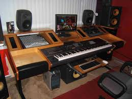 studio keyboard desk the great ham radio desk project ab4bj latest update to top of an