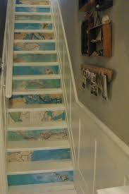 Hall And Stairs Paint Ideas by Best 25 Painted Stair Risers Ideas On Pinterest Painted Stairs