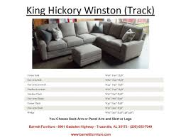 King Hickory Sofa by King Hickory Winston Sectional Track Arm And Modern Leg King