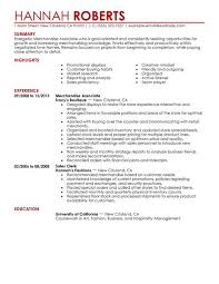 Customer Service Associate Resume Sample by Simple Merchandise Associate Resume Example Livecareer