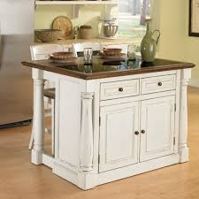 Images Kitchen Islands by Home Styles Monarch 3 Piece Granite Top Kitchen Island U0026 Stool Set