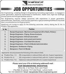 piping design engineer job description dar engineering pakistan jobs 2014 may for design engineers