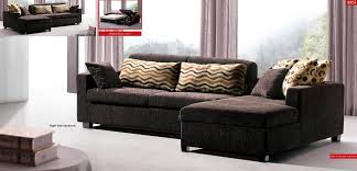 Left Sided Sectional Sofa Brown Fabric Modern Sectional Sofa W Sleeper Storage Chaise