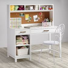 Computer Desk And Hutch Cargo Kids Desk White The Land Of Nod