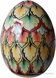 decorative eggs that open italian ceramic decorative open shell egg peacock style 6 in