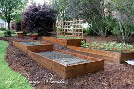 raised bed vegetable garden on slope raised bed with soil yard