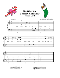 we wish you a merry piano