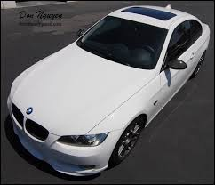 matte white bmw 328i bmw e92 328 coupe matte carbon fiber roof vinyl car wrap