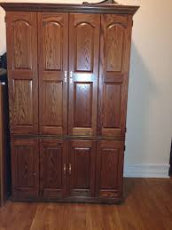 Solid Wood Computer Armoire by Computer Armoire Canada Style Yvotube Com