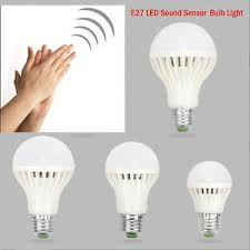 high quality led lights e27 3 5 7 9 12w sound sensor auto led light globe bulb 110v 220v