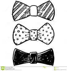 bow tie selection sketch stock photo image 27970870