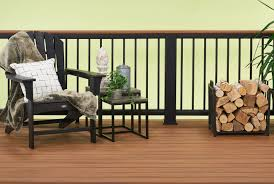 tiki torchdecking u0026 black railing u0026 tiki torch cocktail rail trex
