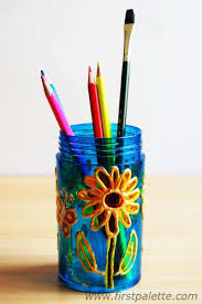 Flower Vase Painting Ideas Stained Glass Jars Craft Kids U0027 Crafts Firstpalette Com