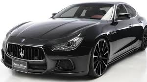 black maserati wald teases black bison aero kit for maserati ghibli