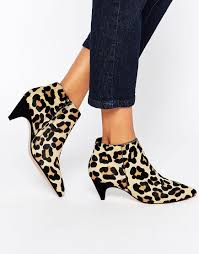 dune womens boots sale dune ophelia print pony effect kitten heel ankle boots in