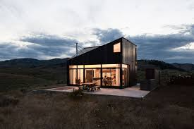 prefab timber cabin offers rustic retreat and killer views in