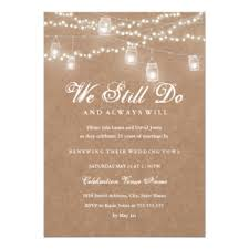vow renewal invitations rustic vow renewal invitations announcements zazzle