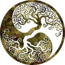 dxf cnc dxf for plasma router clip vector tree of yin yang