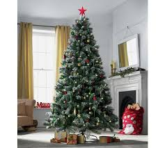 7ft christmas tree buy heart of house 7ft pre lit snow tipped christmas tree at argos