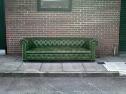 Green Leather Sofa by Sofa Remorse