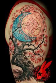 sun moon cherry tree sleeve jackie rabbit by jackierabbit12