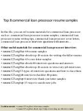 Sample Loan Processor Resume by Top 8 Data Entry Processor Resume Samples